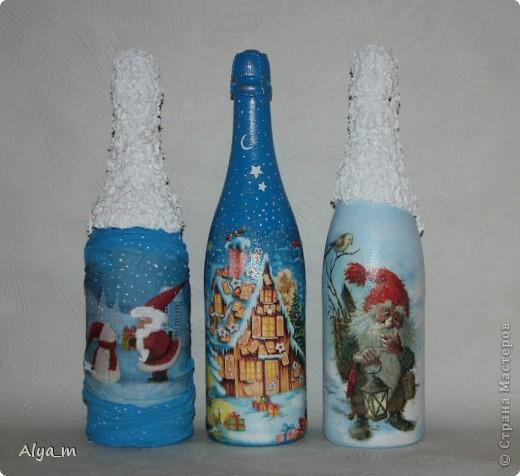 Новогодняя бутылка многоразового использования. фото 2
