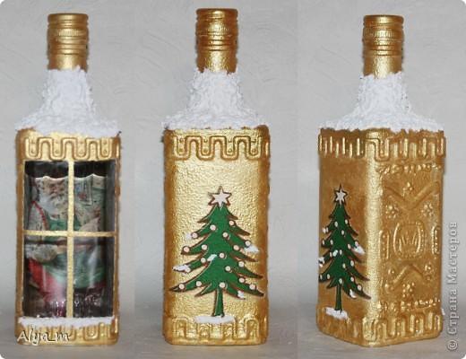 Новогодняя бутылка многоразового использования. фото 1