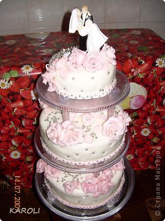 мой свадебный торт который я сделала сама