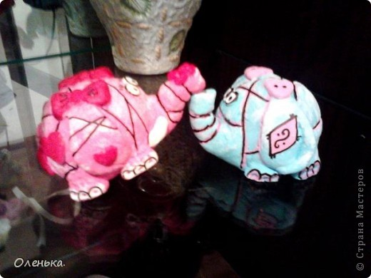 Спасибо большое Диане за ее МК, по которому делала этих слоников!!! фото 1