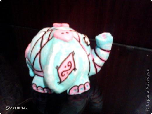 Спасибо большое Диане за ее МК, по которому делала этих слоников!!! фото 9
