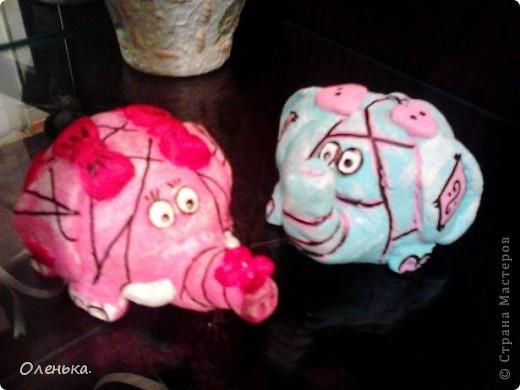 Спасибо большое Диане за ее МК, по которому делала этих слоников!!! фото 8