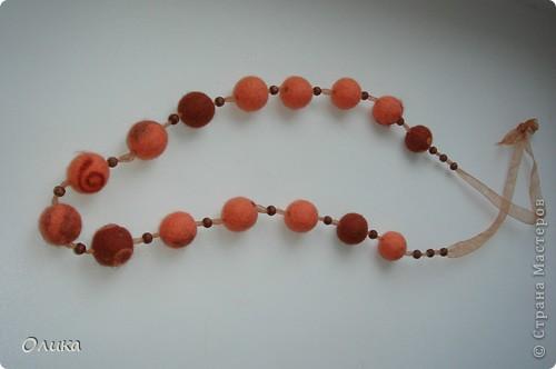 бусы персиковые фото 1