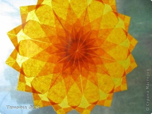 """Полупрозрачная звёздочка из книги """"Звёздное небо оригами"""". фото 2"""