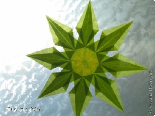 """Полупрозрачная звёздочка из книги """"Звёздное небо оригами"""". фото 3"""