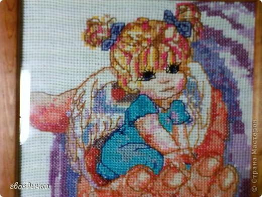 Картина панно рисунок Вышивка крестом АНГЕЛ на ладони Канва Нитки фото 4.