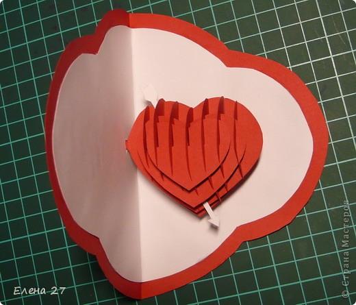 Мастер-класс Валентинов день Свадьба Киригами pop-up МК Сердце в руках Бумага фото 27