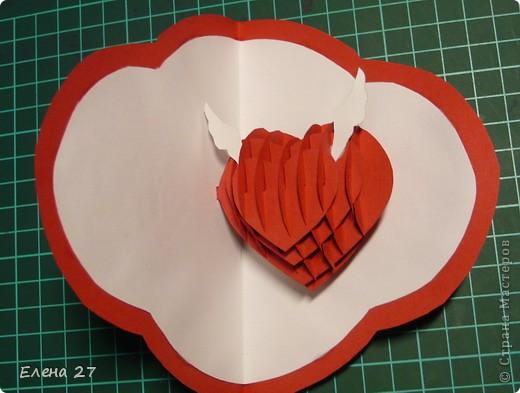 Мастер-класс Валентинов день Свадьба Киригами pop-up МК Сердце в руках Бумага фото 28