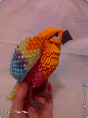 Мой попугай... Мамин самый любимый из всего, что я пока собрала. фото 2
