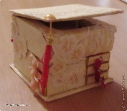 Шкатулка из спичечных коробков  фото 3