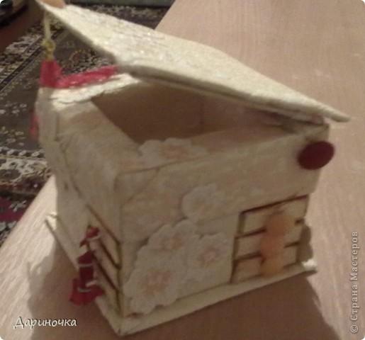 Шкатулка из спичечных коробков  фото 4