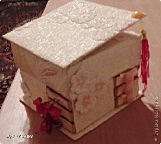 Шкатулка из спичечных коробков  фото 5