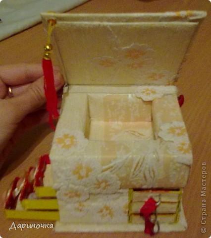 Шкатулка из спичечных коробков  фото 2