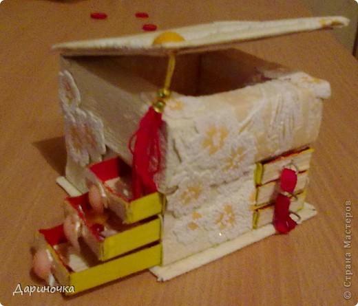 Шкатулка из спичечных коробков  фото 1
