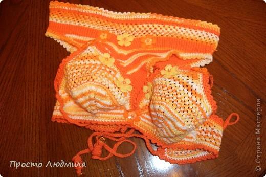 Нитки меланжевые и однотонные оранжевые. фото 1