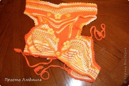 Нитки меланжевые и однотонные оранжевые. фото 2