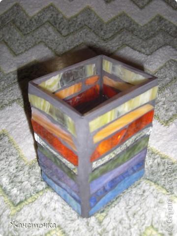 Первый урок мозаики... и получилась ВАЗА фото 3