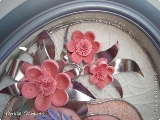 """Дорогие мастерицы! Вот такая """"сердечная"""" композиция в розово-фиолетовых тонах получилась на этот раз. фото 2"""
