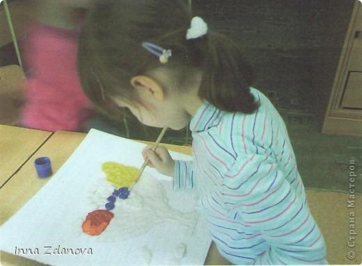 """""""Натюрморт"""" (жидкая соль), (работа, выполненная с детьми детского сада). фото 2"""