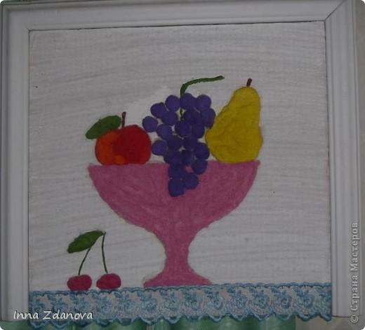 """""""Натюрморт"""" (жидкая соль), (работа, выполненная с детьми детского сада). фото 1"""