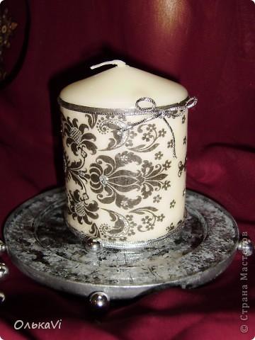Свеча и подставка для нее фото 1