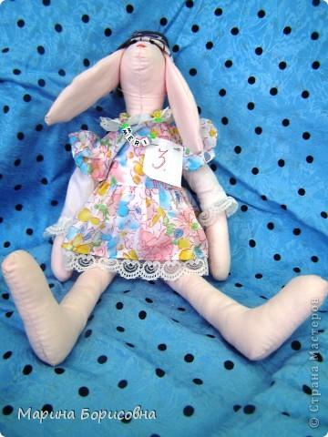 """Каждый год среди учениц 6-х классов провожу конкурс """"Мисс-технология"""". Обычно в номинации """"Мисс-рукодельница"""" девчонки изготавливают куклу http://stranamasterov.ru/node/54424 ,  но в этом году мы не удержались..... и сшили кроликов! Я думаю, что получилось неплохо!!! фото 11"""