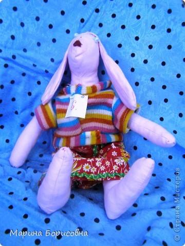 """Каждый год среди учениц 6-х классов провожу конкурс """"Мисс-технология"""". Обычно в номинации """"Мисс-рукодельница"""" девчонки изготавливают куклу http://stranamasterov.ru/node/54424 ,  но в этом году мы не удержались..... и сшили кроликов! Я думаю, что получилось неплохо!!! фото 13"""