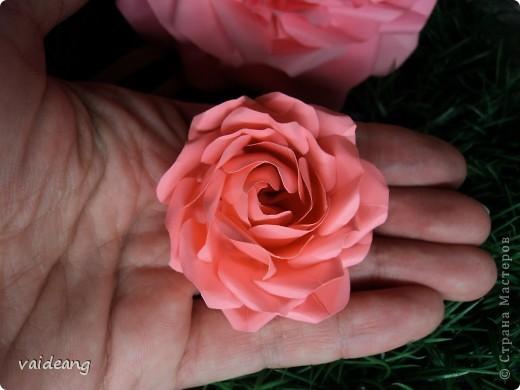 Мастер-класс 8 марта Оригами Роза Бумага фото 17