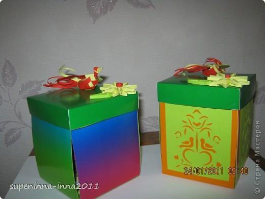 смотрела работы мастериц. понравились такие коробочки и решила сделать на подарок фото 1