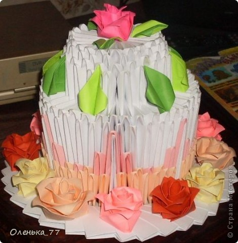 Торт из модулей