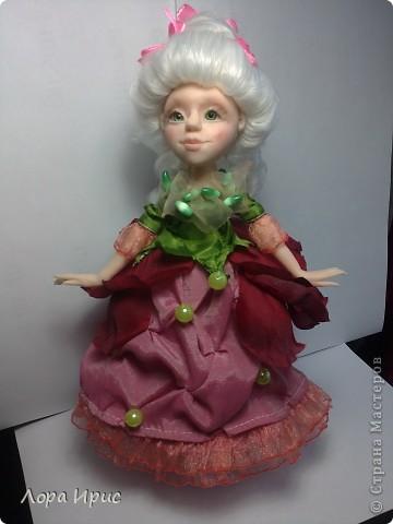 Вот и родилась еще одна кукла. Высота 23 см. Вылеплена из ФИМО.  фото 1