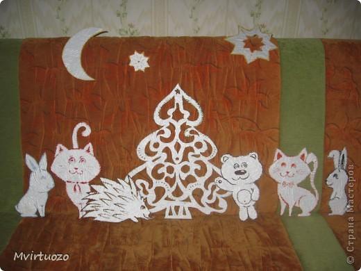Это украшения на стенку для маленького племяшки - Новогодняя лесная сказка :) фото 1
