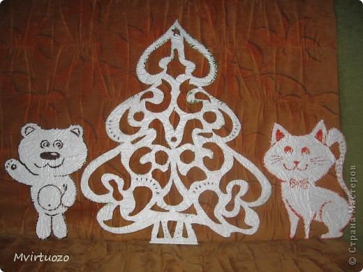 Это украшения на стенку для маленького племяшки - Новогодняя лесная сказка :) фото 2