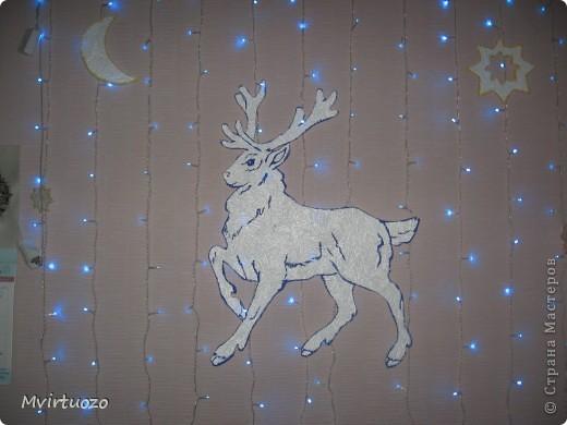 Это украшения на стенку для маленького племяшки - Новогодняя лесная сказка :) фото 3
