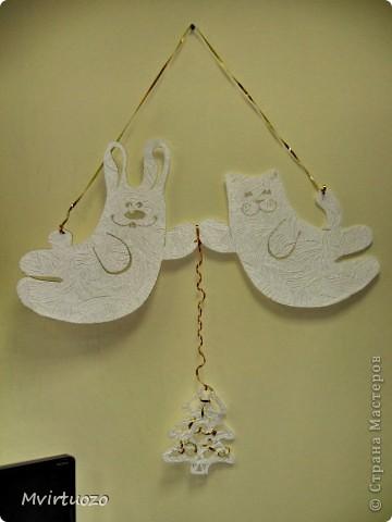Это украшения на стенку для маленького племяшки - Новогодняя лесная сказка :) фото 5