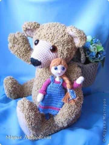 """В детском саду объявили конкурс  """"Сказочные персонажи"""". Мы с дочкой  выбрали сказку  """"Маша и Медведь"""" и решили их вязать крючком. фото 1"""
