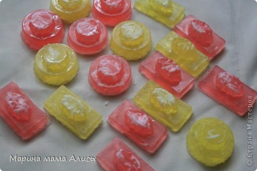 Желтые мармеладки с запахом баббл-гам.красные-ваниль. фото 1