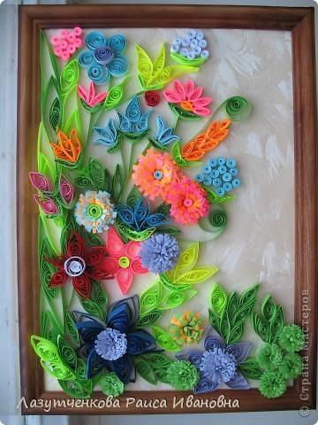 """Корзина с цветами. По книге Светланы Букиной """"Квиллинг: волшебство бумажных завитков"""" фото 32"""