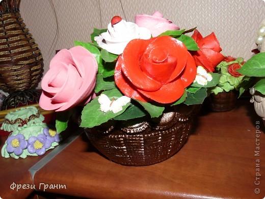 Корзина с цветами! фото 2