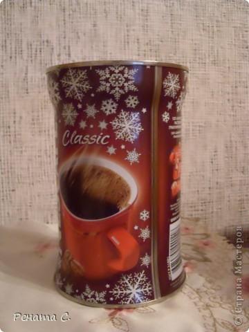 Мой первый мастер-класс))))))...... Я люблю украшать разные банки.....вот решила украсить банку из под кофе) фото 1