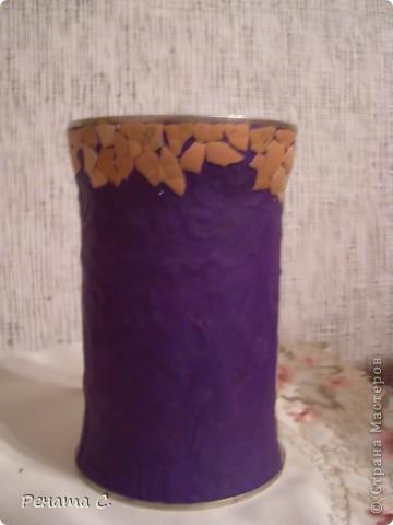 Мой первый мастер-класс))))))...... Я люблю украшать разные банки.....вот решила украсить банку из под кофе) фото 2