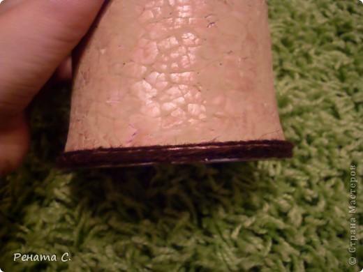 Мой первый мастер-класс))))))...... Я люблю украшать разные банки.....вот решила украсить банку из под кофе) фото 6