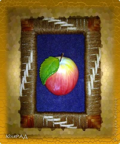 Такое вот яблочко из солёного теста))) Роспись по МК Марины Архиповой фото 1