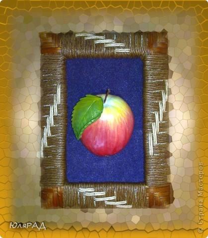 Такое вот яблочко из солёного теста))) Роспись по МК Марины Архиповой фото 2
