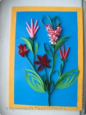"""Корзина с цветами. По книге Светланы Букиной """"Квиллинг: волшебство бумажных завитков"""" фото 33"""