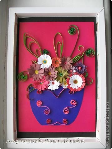 """Корзина с цветами. По книге Светланы Букиной """"Квиллинг: волшебство бумажных завитков"""" фото 35"""