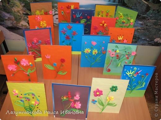 """Корзина с цветами. По книге Светланы Букиной """"Квиллинг: волшебство бумажных завитков"""" фото 44"""