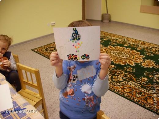 В начале своей работы в новой роли пробовала делать картинки новогодние  из разноцветного гороха. фото 4