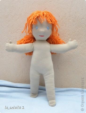 Вальдорфская кукла. Зовут Алиса. Это мой первый опыт в шитье таких кукол.  фото 3