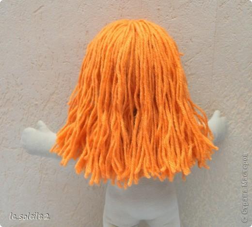 Вальдорфская кукла. Зовут Алиса. Это мой первый опыт в шитье таких кукол.  фото 6